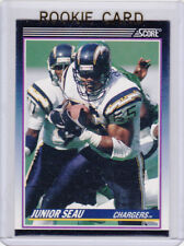 JUNIOR SEAU ROOKIE CARD San Diego Chargers 1990 SCORE SUPPLEMENTAL Football RC!