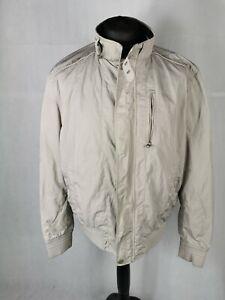 Mens Coat Size XXL ZARA Light Grey Soft shell Casual Jacket Harrington