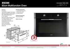 Baumatic BO89S 80cm Built in Electric Oven
