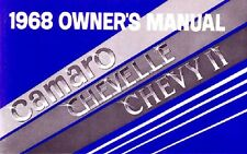 1968 Camaro Chevelle Chevy II Owners Manual User Guide