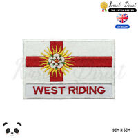 WEST RIDING England County Flag With Name Embroidered Iron On Sew On Patch Badge