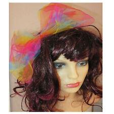 80s Fancy Dress, 80s accessories, rainbow hair bow, large hair bow, multi colour
