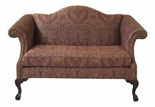47773EC: Ball & Claw Chippendale Sofa Loveseat ~ Newly Upholstered  (2 of 2)