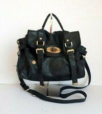 MULBERRY Alexa black leather satchel handbag