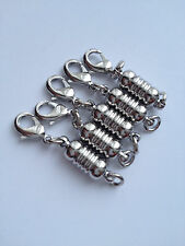 5 pcs Magnetic Silver Tone Brass Clasps Jewelry Fastener Lobster Claw Makin #82M