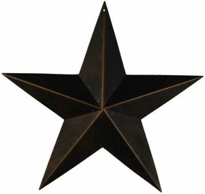 "Antique Black Tin Barn Star- Primitive Rustic Farmhouse  Decor 3.5"",12"",18"",24"""