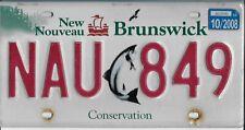 2008  NEW BRUNSWICK  Conservation  Plate  ( Atlantic Salmon )  NAU 849   Fair
