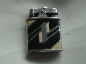 Ronson Art Metal Works Art Deco pocket cigarette lighter Vintage Enamel