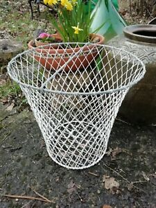 Large Old Galvanised Vintage Egg Preserving Chicken Farm Wire Basket Circa 1940s