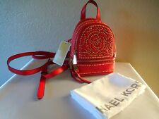 New Michael Kors RHEA Ex- Small Convertible Messenger Leather Backpack