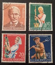 Bund Wohlfahrt 1958 Landwirtschaft Mi-Nr. 297/300 gestempelt, Versandkostenwahl