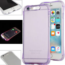 LED Flashing Shockproof Transparent TPU Case Cover For iPhone XS MAX XR 6 8 Plus