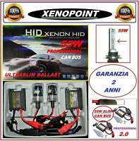KIT XENON XENO 55W DIGITAL 2.0 H7 H1-H3-H11 HB3 HB4 H9 5000K 6000K SLIM CANBUS