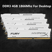 Pour Kingston HyperX 4 Go 8 Go 16 Go DDR3 1866 MHz PC3-14900 RAM de bureau blanc