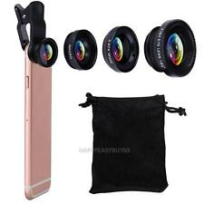 3in1 180° Fish Eye + Wide Angle + Macro Camera Photo Zoom Lens for iPhone 6 plus