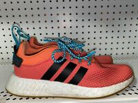 Adidas NMD R2 Summer Spice Mens Athletic Running Shoes Size 8 Orange Blue Black