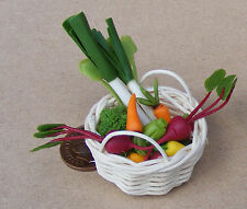 1:12 mezcla de verduras en cesta casa de muñecas en miniatura de cocina Accesorio de alimentos un