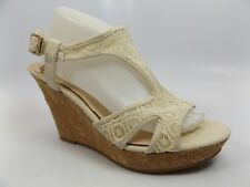 Fergalicious Kailyn Wedge Sandals, Women's Size 10.0 M, Beige NEW DISPLAY D6347