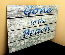 Vintage retro Gone to the Beach A4 metal wall sign gift  holiday home wall sign
