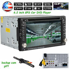 "6.2""  Double 2 Din Car DVD GPS Player No 3G Radio Stereo Sat Nav Bluetooth US"