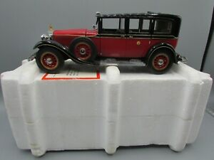 Franklin mint 1935 mercedes benz 770 k grosser in polystyrene box 1:24 scale