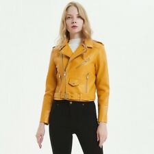 TX Womens Faux Leather  Cropped Biker Jacket with Zips and Belt Buckle 5 Colours