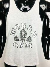 Vintage World Gym Men's Gray/Black Stringer Tank Top Size XXL