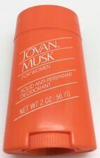 Vintage Jovan Musc pour Femmes Déodorant en Bâton 59ml/56.7g