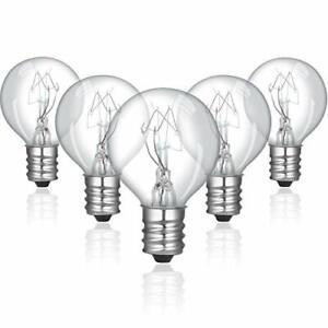 12 Pieces 20 Watt Bulbs Wax Warmer Bulbs Incandescent Clear Light E12 Candelabra