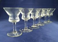 Rare set of 6 sherry glasses Percy Hancock & Son Limited feb 1938