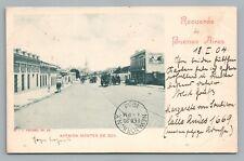 Avenida Montes de Oca BUENOS AIRES Antique UDB Rare Tarjeta Peuser Pub STAMPS 04