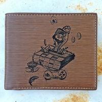Super Nintendo Luigi Laser Engraved Wallet Super Mario Gamer Gift