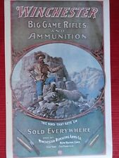 Winchester Firearms Advertising Poster Big Game Rifles, Goodwin?