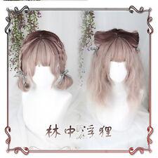 Japanese Harajuku Sweet Lolita Gradient Vintage Curly Cosplay Daily Fairy Wig
