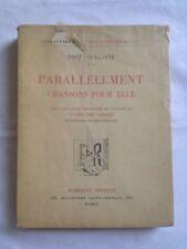Parallèlement Chansons Pour Elle - Verlaine - Illustrations d'Edouard Chimot
