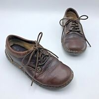 Born W6540 Ravine Women Brown Leather Lace Up Oxford Shoe Size 7.5 Pre Owned