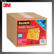 "3M NEW 7913 Bubble Mailers 6"" x 9"" Size #0 Padded Mailing Envelopes (25 Pack)"