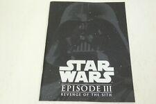 STAR WARS EPISODE III REVENGE OF THE SITH Japan movie program  booklet 100
