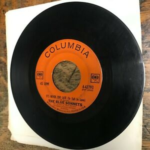 THE BLUE SONNETS Thank You Mr. Moon 45 RPM COLUMBIA 1963 VG- RECORD Vinyl USED