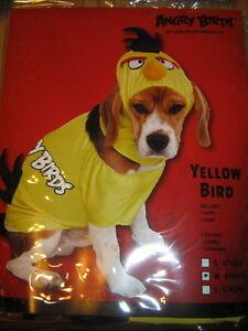 "NEW ANGRY BIRDS ""YELLOW BIRD"" DOG COSTUME SIZE MEDIUM"