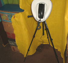 ooak strange stupid camera tripod bedpan working rotary telephone repurposed