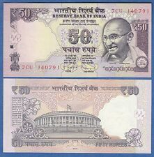 India 50 Rupees 2013 P New Unc Gandhi Low Shipping! Combine Free!