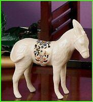Lenox China Jewels Nativity Donkey Figurine Standing Christmas NEW IN BOX