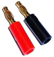 8026 RC doré banane connecteur Balle non soudé 4mm rouge et Noir