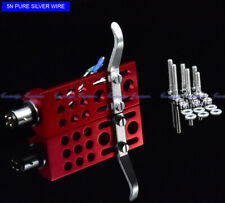 New 20pcs/lot pure silver leadwire CNC machined RED anodized SME type Headshell