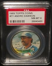 PSA 8 NM-MT 8 - #11 Andre Dawson 1989 Topps Coins Chicago Cubs