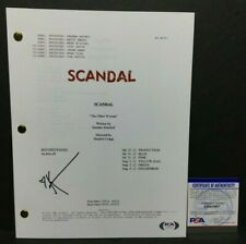 Kerry Washington Signed 'Scadal:The Other Woman' Full Tv Episode Script Psa