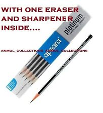 Apsara Platinum Extra Dark Pencils 3 Pack X 10 Pencils + Eraser and Sharpner