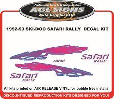 1993 SKI-DOO  SAFARI RALLY DECAL KIT  REPRODUCTIONS
