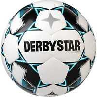 DERBYSTAR Brillant TT DB Fußball Trainingsball Spielball weiß/blau/schwarz Gr.5